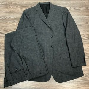 Other - Custom Made Grey & Blue Glen Plaid Suit 44L